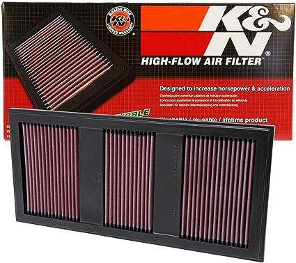 K&N 33-2985 Filtro de Aire Coche, Lavable y Reutilizable: Amazon ...