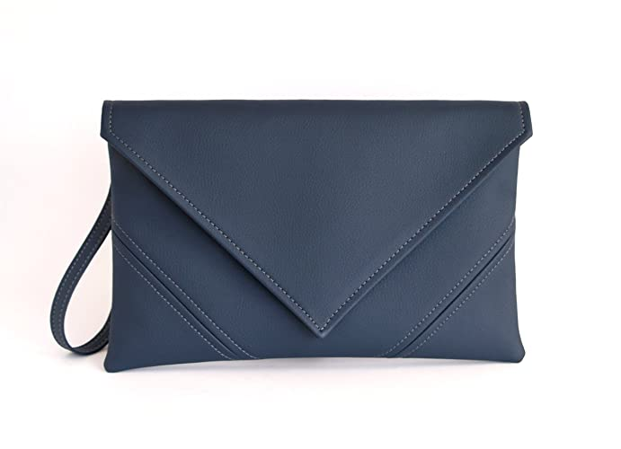 big collection limited price best place Amazon.com: Letter clutch Handmade Navy blue clutch purse ...