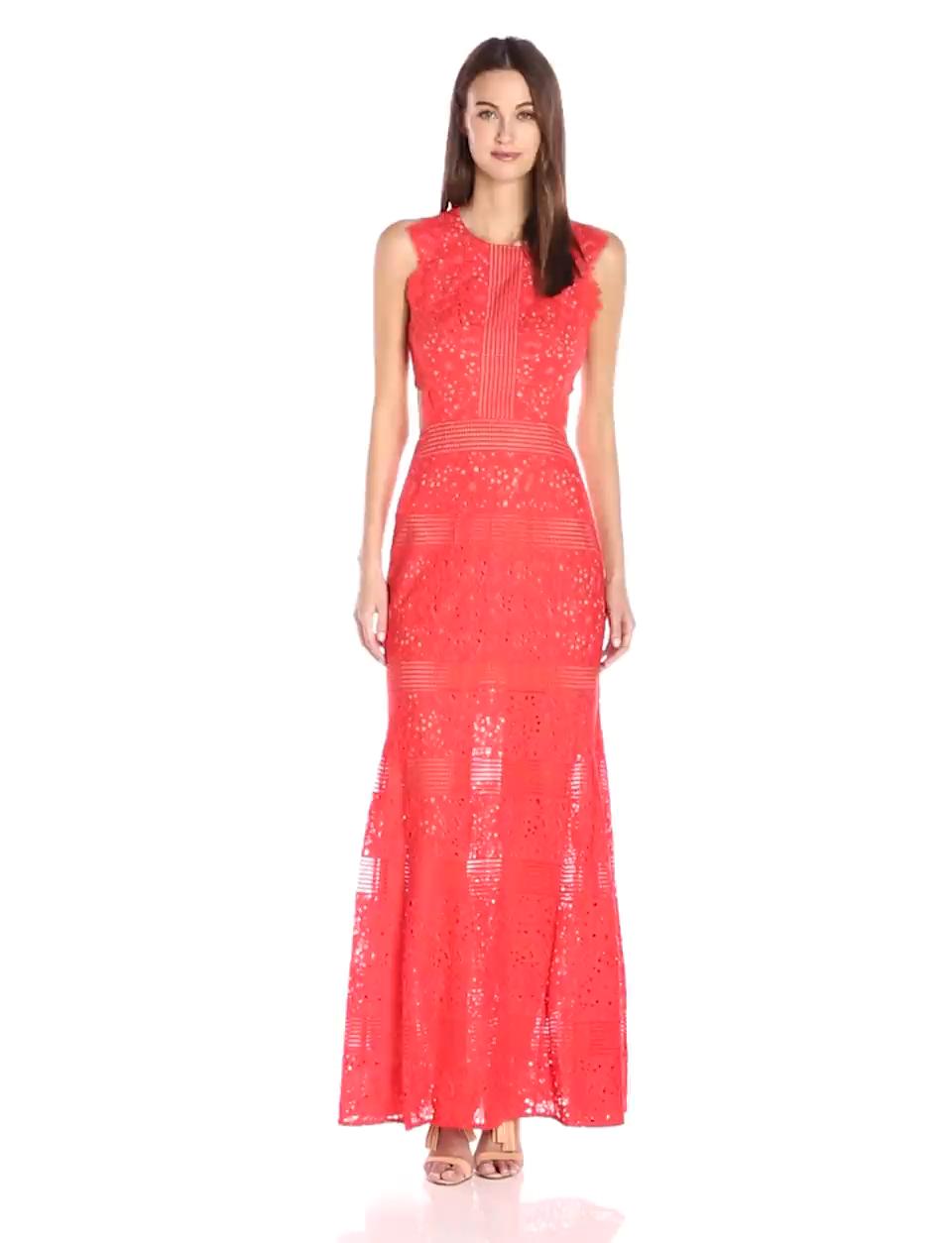 Amazon.com: BCBGMAXAZRIA BCBGMax Azria Women\'s Merida Knit Evening ...