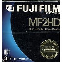 Fuji Film MF2HD High Density 3.5 Inch Floppy Disks - 10 Pack