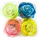 Fun Central I544 LED Flashing Jelly Flower Rings - Assorted 24 Count Light Up