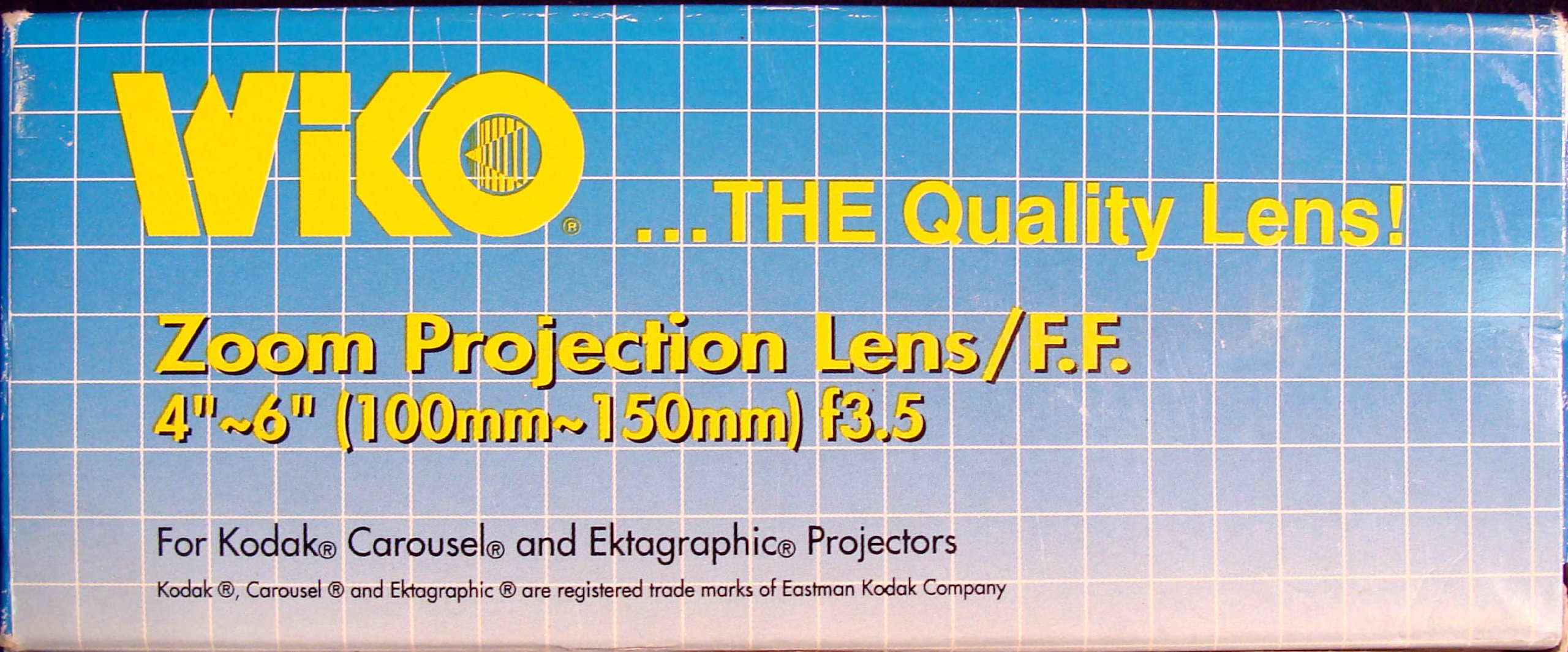 Zoom Projection Lens/F.F. 4''-6'' (100mm-150mm) f3.5 For Kodak, Carousel and Ektagraphic Projectors by WiKO, Ltd.