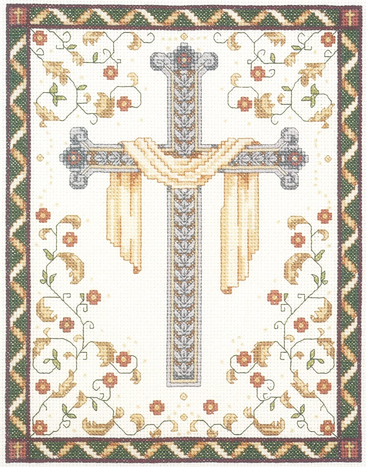 Janlynn 10235 His Cross Counted Cross Stitch Kit-8X10 14 Count 021-1018