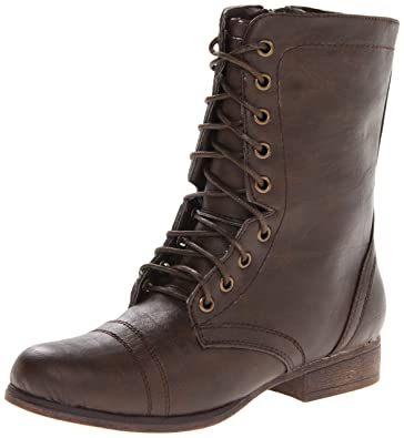 Amazon.com | Madden Girl Women's Gamer Lace-Up Boot | Ankle & Bootie