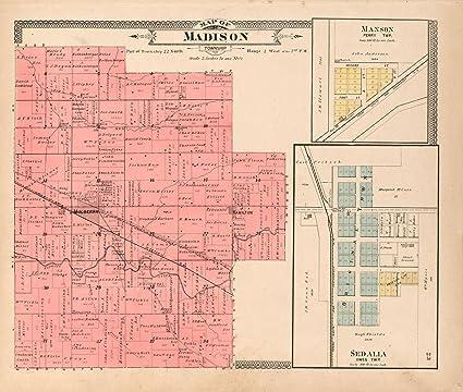 Amazon Com Historic 1903 Map 20th Century Atlas Of Clinton County