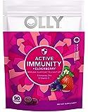 Olly Active Immunity Gummy Supplement with Elderberry, Zinc, Vitamin C, Immune Support, Berry Flavor, 30 Day Supply, 90…