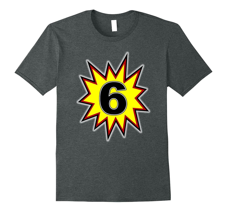 Birthday Boy 6 T Shirt Six Year Old Superhero 3 RT