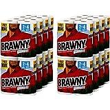 Brawny KjrRS Towels, 32 XL Rolls, Pick-A-Size, White, 16 = 32 Regular Rolls