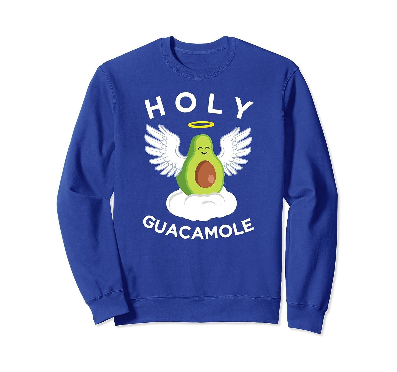 Holy Guacamole Sweatshirt, Funny Angelic Avocado Apparel-alottee gift