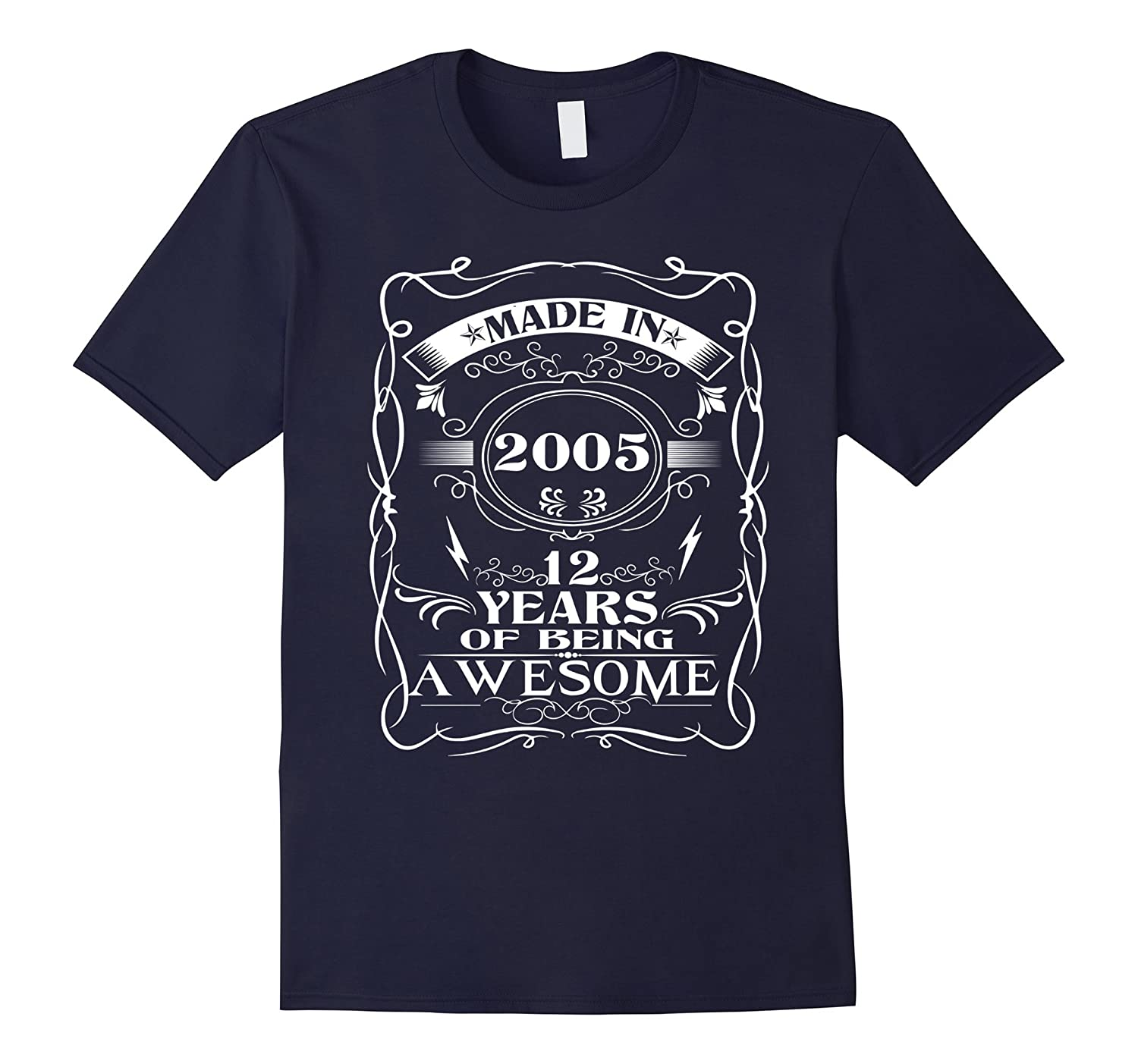 12th birthday Born in 2005 12 Year Of Being Awesome-TH