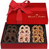 Hazel & Creme Chocolate Covered Pretzel Gift Box - Gourmet Food Gift - Anniversary, Birthday, Corporate, Holiday Gourmet Gift