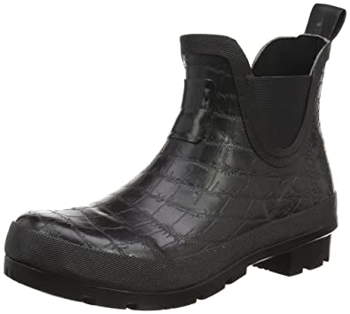 Joules Womens Crockington Bob Rain Boot Black