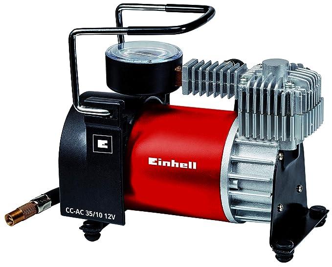Einhell 2072121 Compresor de Automocion CC-AC 35/10 12 v Presión Trabajo 10 Bar, Rojo: Amazon.es: Coche y moto