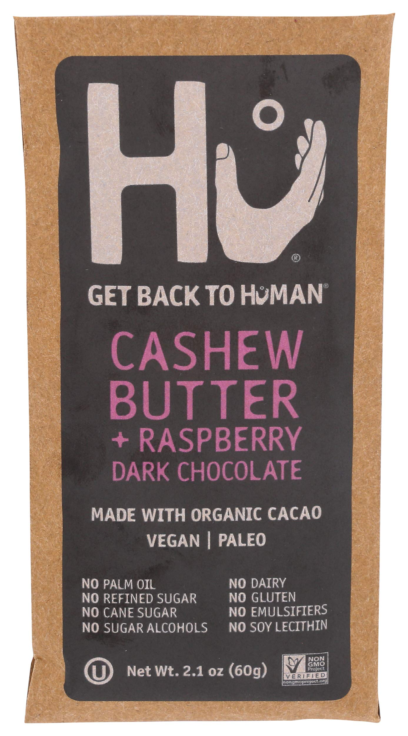 HU KITCHEN Raspberry Cashew Butter Chocolate Bar, 2.1 OZ