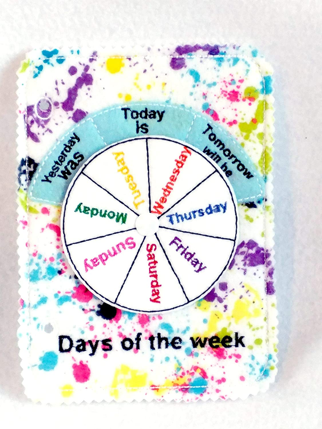 #QB39 Learn days of week Quiet book page