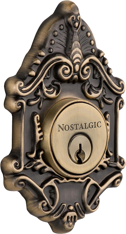 Nostalgic Warehouse 733016 Victorian Deadb Cylinder Quantity limited Double Plate Superlatite