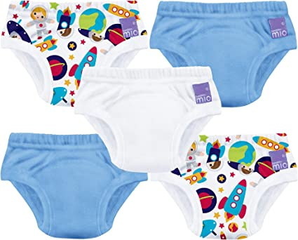 5 Pack Bambino Mio Potty Training Pants Mixed Boy Outer Space 2-3 Years