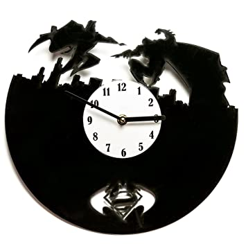 batman vinyl clock vinyl wall clock clocks unique diy vinyl record clock batman - Decorative Clocks