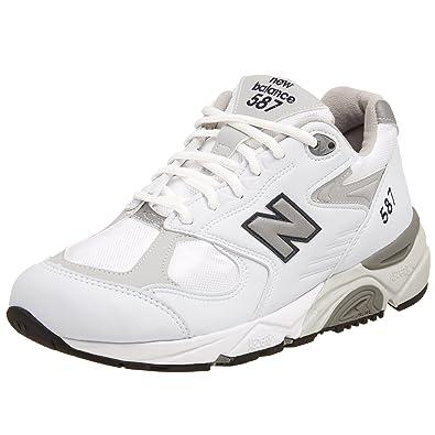 New Balance Women's W587 Running Shoe,White/Grey ...