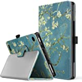 TiMOVO All-New Fire 7 2017 Case (7th Generation, 2017 Release) - Smart Cover Slim Folding Stand Case with Auto Wake/Sleep Function for Amazon Fire 7 Inch Tablet, Almond Blossom