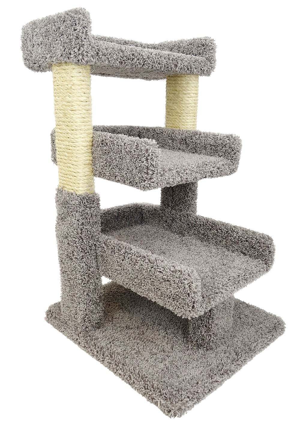 New Cat Condos 110029-Brown-Parent Premier Triple Cat Perch, Gray by New Cat Condos