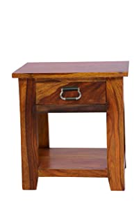 Solid Wood Bedside Table with Single Drawer by Furniseworld, SKU: VHT-FW-00131