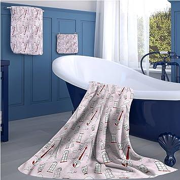 familytaste Paris 723D - Juego de toallas de baño (impresión digital, imagen de ciudad