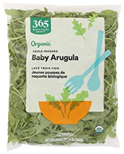 365 by Whole Foods Market, Produce - Organic Packaged Baby Arugula (Triple-Washed), 5 Ounce