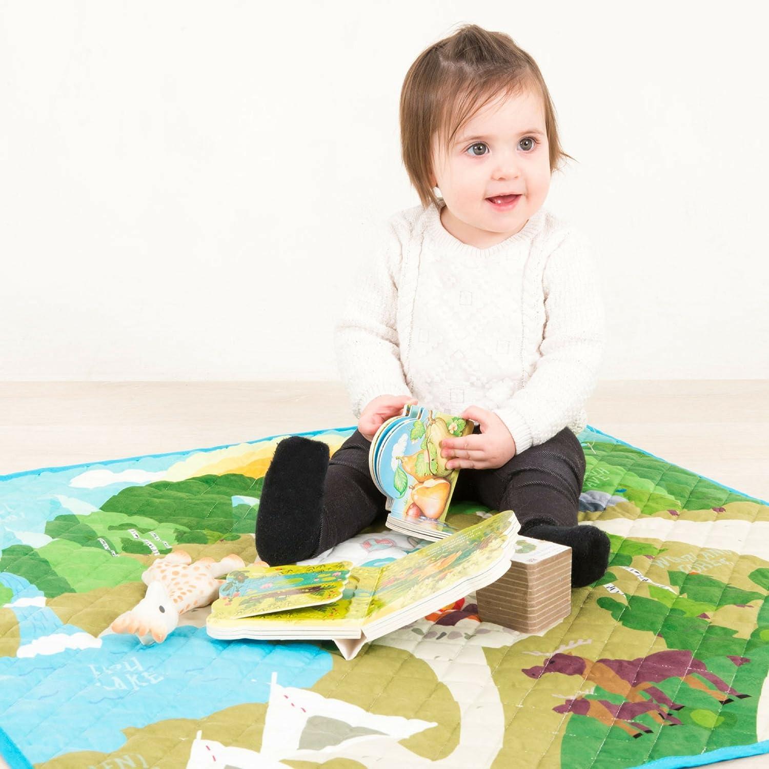 Amazon.com : Alfombra Acolchada de Aventuras en El Bosque Magico para Niños y Niñas Bebes! : Baby