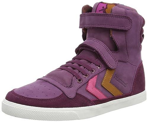 Hummel HUMMEL SL Stadil JR Oiled HI - Zapatillas Deportivas Altas de Piel niña, Color Rojo, Talla 26: Amazon.es: Zapatos y complementos