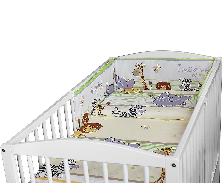 TRUCKS BABY BEDDING SET 3PCS COT BED SIZE PILLOW DUVET COVER BUMPER 140x70CM