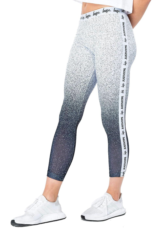 Hype Black Speckle Fade Tape Womens Leggings