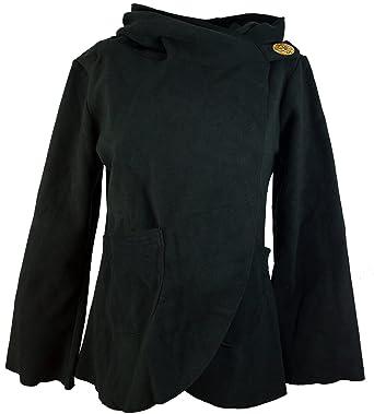 Guru-Shop Fleece Cape Wickeljacke, Damen, Synthetisch, Boho Jacken, Westen Alternative Bekleidung
