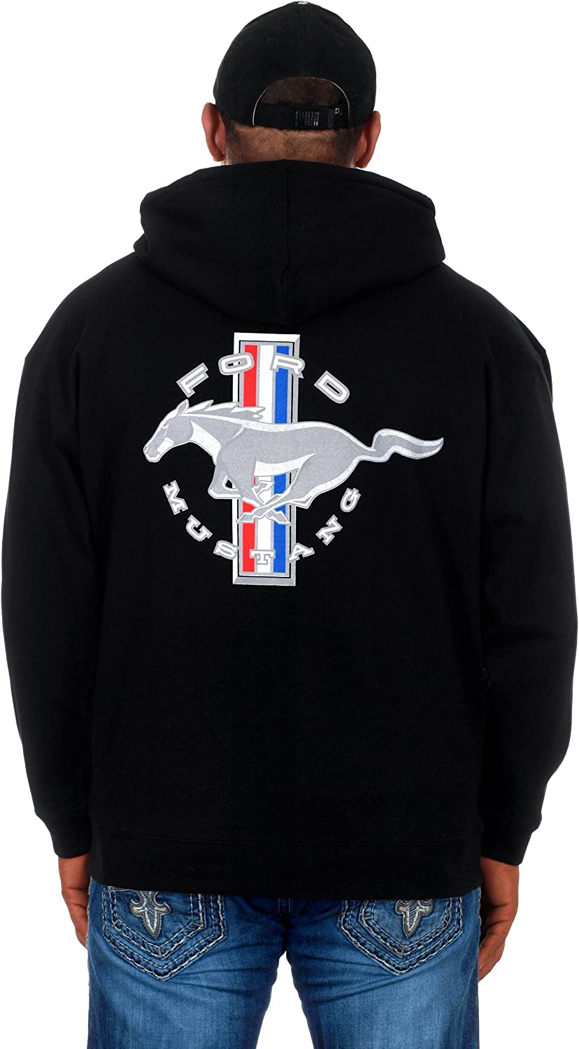 Jh Design Mens Ford Mustang Hoodies in 5 Styles Pullovers /& Full Zip Up