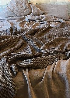 JOWOLLINA Leinen Bettwäsche 100% Natur Leinen Stonewashed   Bettbezug  135x200 Cm + Kissenbezug 80x80 Cm