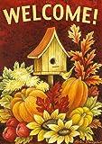 Toland Home Garden 118272 Toland-Fall Birdhouse-Decorative Double Sided Autumn Welcome Harvest USA-Produced Garden Flag
