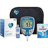 OWell Bayer Contour Diabetes Blood Glucose Testing Kit, METER, 10 Test Strips, 10 Lancets, Lancing Device, Manual, Log Book & Carry Case