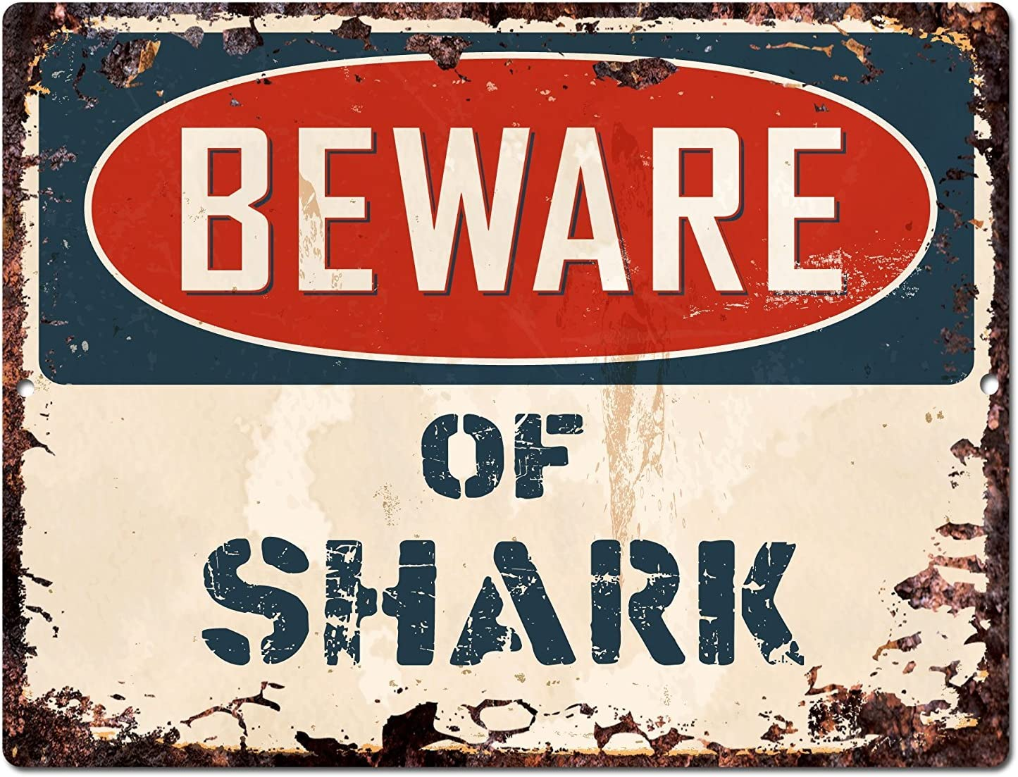 Beware Of Basking Shark Rustic Sign SignMission Classic Plaque Decoration