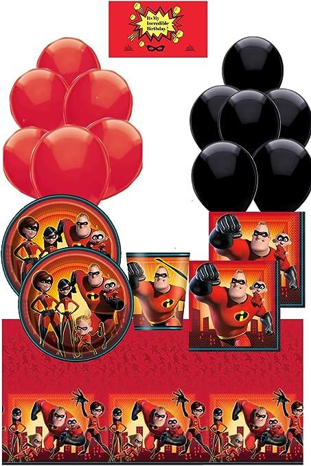 Amazon.com: Incredibles - Pack de 2 suministros para fiestas ...