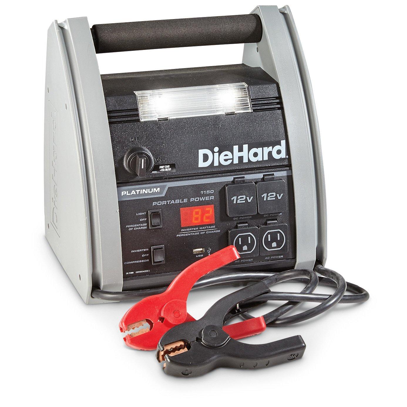 Diehard Platinum 1150 Amp Jump Starter With Power Home A C Compressor Wiring Post Inverter And Air 71988 Automotive