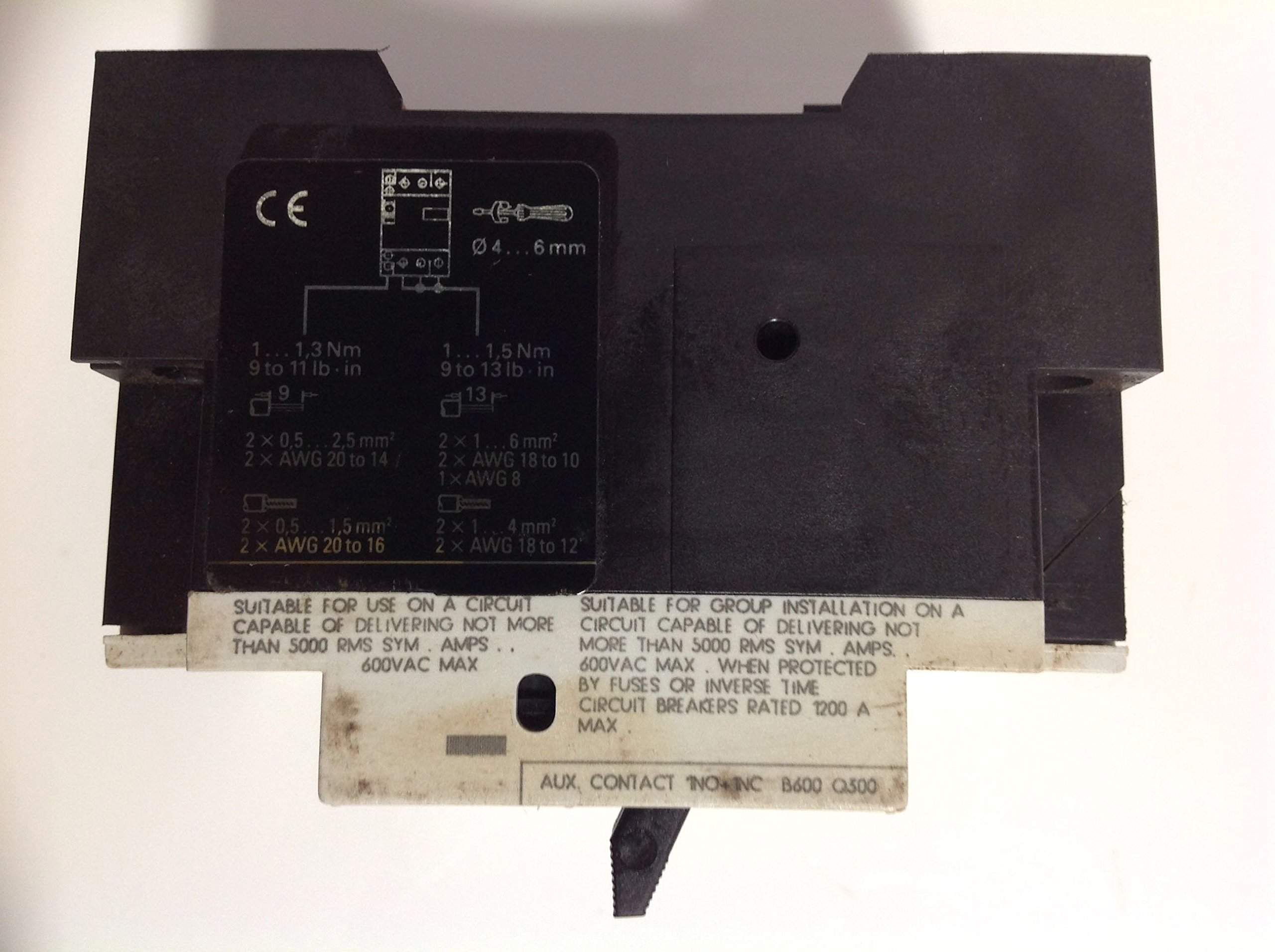 Siemens 3VU1300-1MH00 Starter Motor Protector 1.6-2.4amp by Siemens (Image #1)