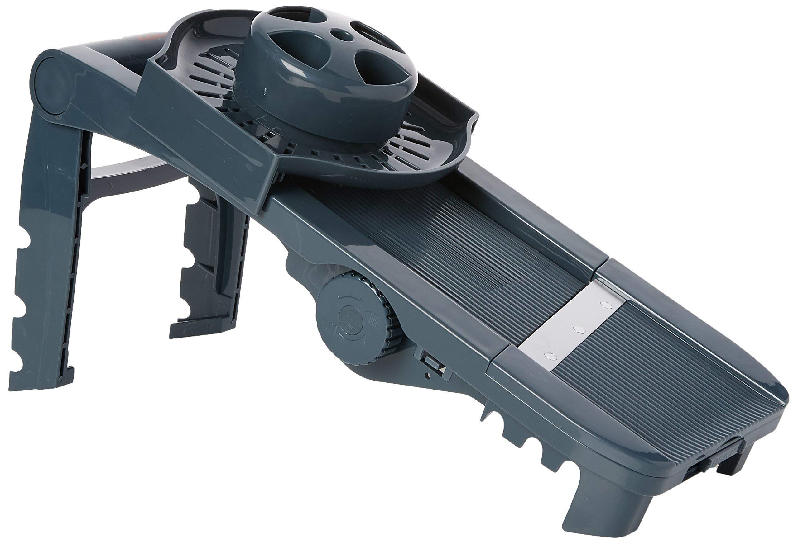 Lacor 60331 - Mandolina de plástico 5 cuchillas y exprimidor, gris product image