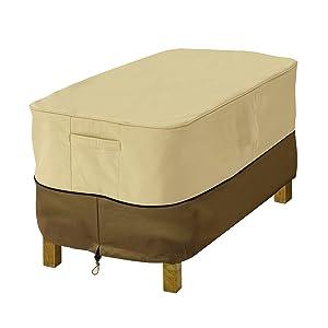 Classic Accessories Veranda Rectangular Patio Ottoman/Side Table Cover, X-Small