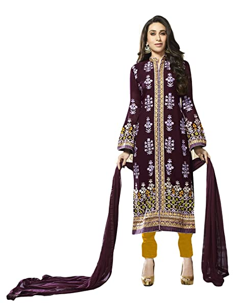 d26ca3259121 RK Online Shopping Women s Crepe Ethnic Wear Dress Material (Purple ...