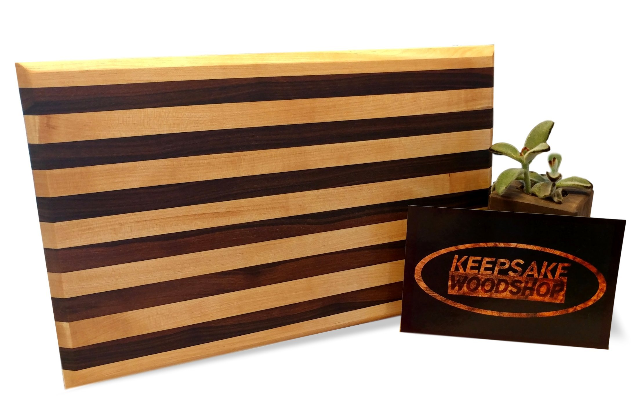 Wood Cutting Board – Maple and Walnut Large 18 x 12 x 1 – Reversible, Handcrafted Carving Board Serving Platter, Dual Purpose Use for Chopping, Serving, Cheese, Charcuterie and Appetizers by Keepsake Woodshop
