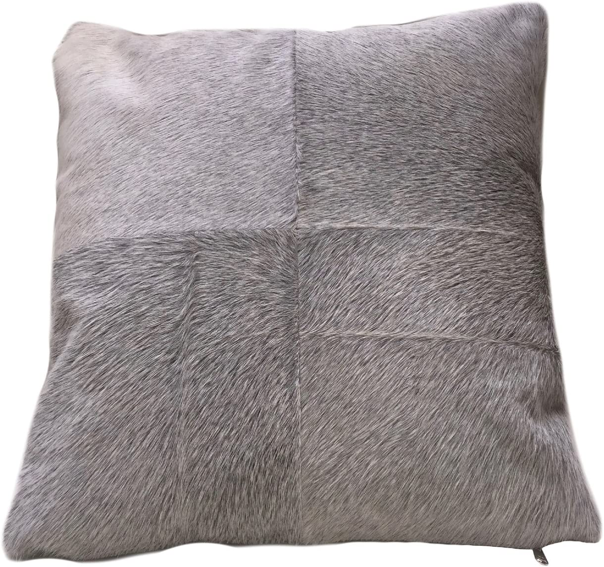 Foreign Affairs Home Décor Grey Cowhide Pillow ESEL. Double Sided Leather Pillow.