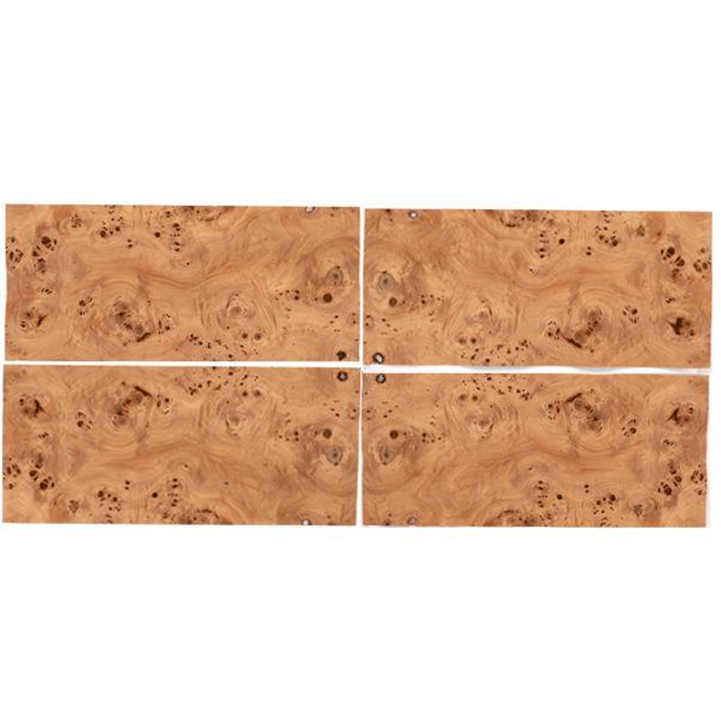 "Mappa Burl Veneer 8"" x 18"" Sequence Matched 4-Piece"