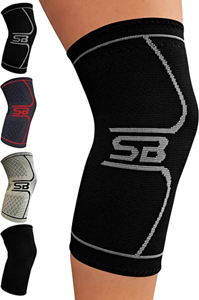 Knee Support and Pain Relief in Weight Lifting Knee Sleeves for Both Men /& Women Fine Knee Compression Sleeves Breathable Sleeves Knee Support Knee Brace