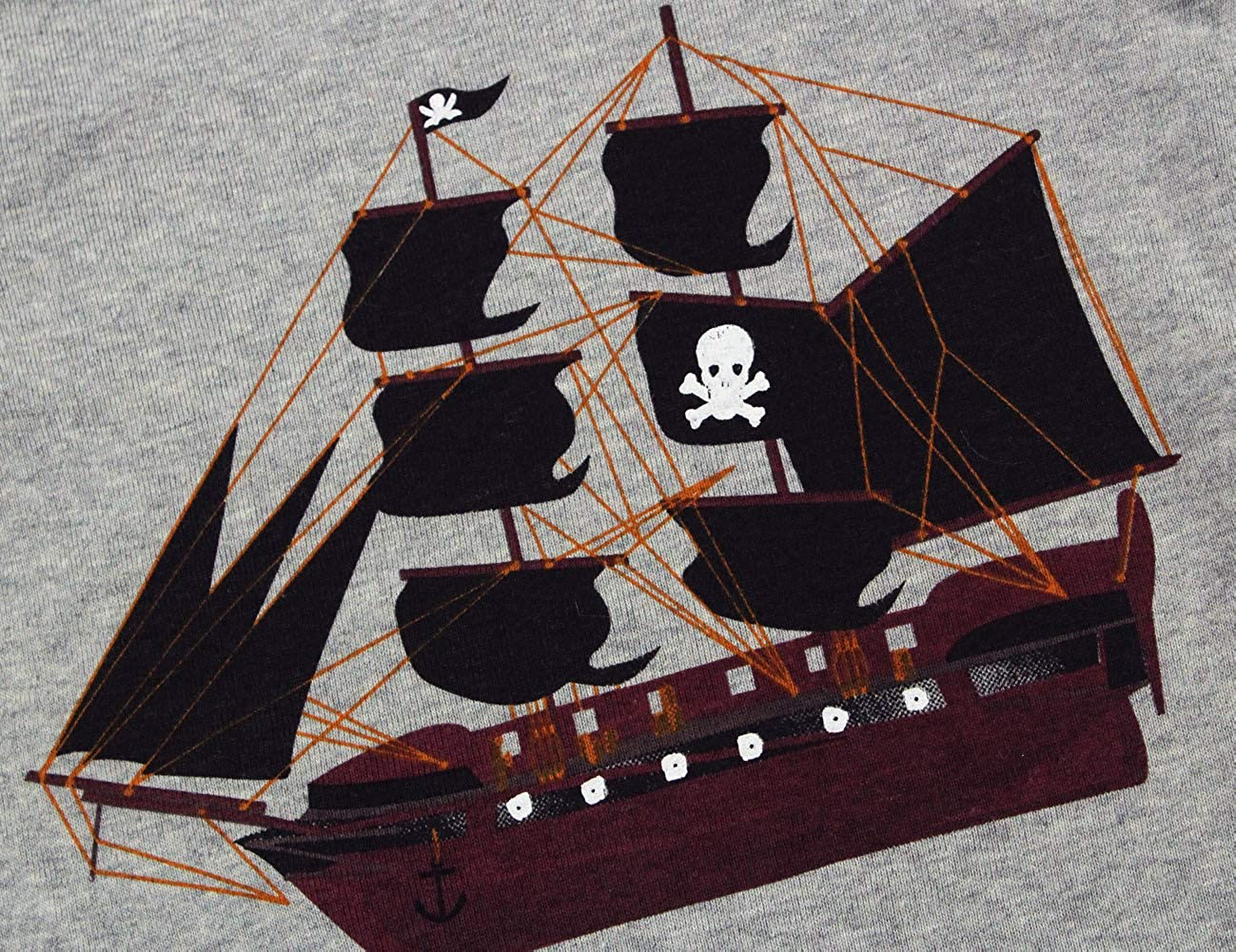 Boys Pajamas Set Pirate Ship Print 100/% Cotton Sleepwear Clothes for Kids