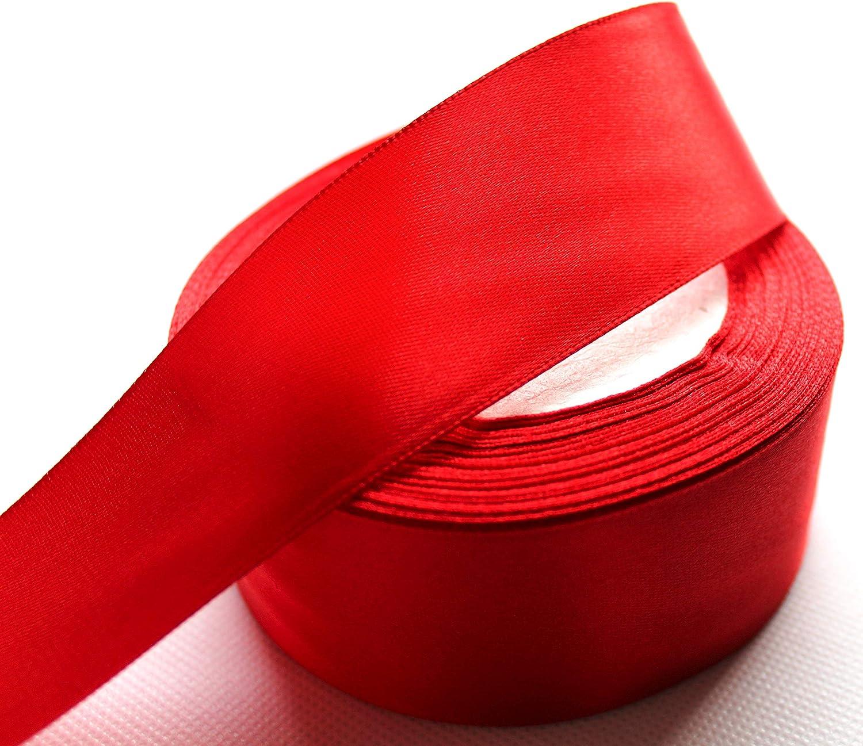 Apricot, 22m CaPiSo 22m Satinband 40mm Breite Schleifenband Geschenkband Dekoband Weihnachten Hochzeit